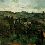 Paul Cezanne - PAYSAGE DILE DE FRANCE, 1879, OIL ON CANVAS