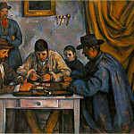 Paul Cezanne - THE CARD PLAYERS,1890-92, BARNES FOUNDATION