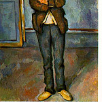 Paul Cezanne - MAN IN A ROOM (NO DATE GIVEN) THE BARNES FOUNDAT