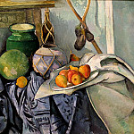 Paul Cezanne - still-life-with-a-ginger-jar-and-eggplants