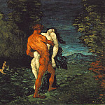 Paul Cezanne - THE ABDUCTION,1867, FITZWILLIAM MUSEUM CAMBRIDGE