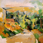 Paul Cezanne - BEND IN ROAD,1900-06, PRIVATE.VENTURI 790