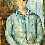 Paul Cezanne - MADAME CeZANNE EN BLEU,1886, THE MUSEUM OF FINE ARTS