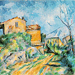 Paul Cezanne - Maison Maria with a View of Chateau Noir