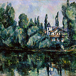 Paul Cezanne - The Banks of the Marne (Villa on the Bank of a River
