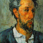 Paul Cezanne - PORTRAIT OF VICTOR CHOQUET,1875, COLL.OF LORD VICTOR