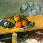 Paul Cezanne - APPLES, PEACHES, PEARS, AND GRAPES,1879-80, EREMITAG