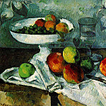 Paul Cezanne - STILL LIFE WITH COMPOTIER,1879-80, COLLECTION MR. AN