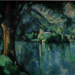 Paul Cezanne - LE LAC DANNECY,1896, COURTAULD INSTITUTE GALLERIES,