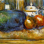 Paul Cezanne - STILL LIFE WITH WATERMELON AND POMEGRANATES,1900-06,
