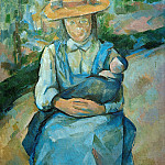 Paul Cezanne - Young girl with doll