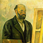 Paul Cezanne - SELF PORTRAIT WITH PALETTE,1885-87, COLLECTION THE A