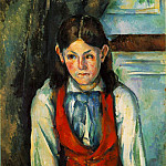 Paul Cezanne - GARCON AU GILET ROUGE,1888-90, BARNES FOUNDATION