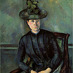 Paul Cezanne - Woman in a Green Hat (Madame Cezanne)