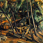Paul Cezanne - WOODS WITH MILLSTONE,1898-1900, COLL.MRS CARROLL S.T