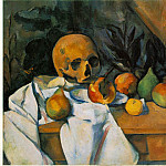Paul Cezanne - STILL LIFE WITH SKULL (NATURE MORTE AU CRANE),1895-1