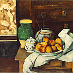 Paul Cezanne - STILL LIFE WITH COMMODE,1883-87, BAYERISCHE STAATSGE