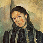 Paul Cezanne - MADAME CeZANNE AUX CHEVEUX DeNOUeS,1890-92, PHILADEL