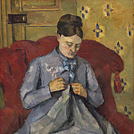 Paul Cezanne - Portrait of the Artist's Wife