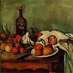 Paul Cezanne - STILL LIFE WITH ONIONS AND BOTTLE,1890-95, LOUVRE