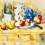 Paul Cezanne - Still Life with Apples, a Bottle, and a Milk Pot