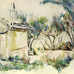 Paul Cezanne - Le Cabanon de Jourdan (watercolor)