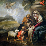 Guercino (Giovanni Francesco Barbieri) - Holy Family and the Infant Saint John