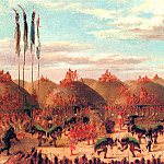 George Catlin - O-Kee-Pa Ceremony to make the buffalo come