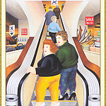 Beryl Cook - CookBeryl_b28_The_Escalator-WeaSDC