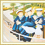 Beryl Cook - CookBeryl_b08_Sailors_and_Seagulls-WeaSDC
