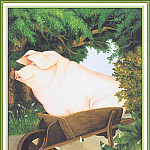 Beryl Cook - CookBeryl_i02_Pig_in_a_Wheelbarrow-WeaSDC