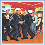 Beryl Cook - CookBeryl_a29_Sailors_Dancing-WeaSDC
