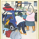 Beryl Cook - CookBeryl_b41_Packing_the_Car-WeaSDC
