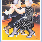 Beryl Cook - CookBeryl_e36_Dancing_on_the_QE2-WeaSDC