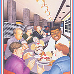 Beryl Cook - CookBeryl_e29_Howard_Johnson_Cafe-WeaSDC