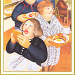 Beryl Cook - CookBeryl_b17_Breakfast_Time-WeaSDC