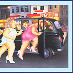 Beryl Cook - CookBeryl_a39_Girls_in_a_Taxi-WeaSDC