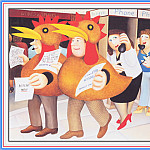 Beryl Cook - CookBeryl_e06_Chicken_Suits-WeaSDC