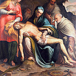 Gentile da Fabriano - Lamentation of Christ with Saint Catherine of Alexandria and the prophets