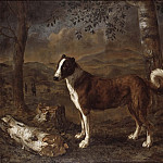 Pieter Jacobs Codde - Dog and a Birch Log
