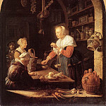 Gerrit Dou - The Grocers Shop