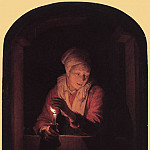 Gerrit Dou - Old Woman with a Candle