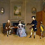 Arthur William Devis - John Orde, with his wife Anne, and his eldest Son