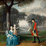 Arthur William Devis - Francis Vincent, his wife Mercy, and daughter Ann of Weddington Hall