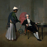 Arthur William Devis - A Gentleman, possibly William Hickey, and his Indian Servant