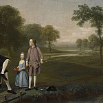 Alexandre-Gabriel Decamps - Richard Moretan, Esq. of Tackley with his nephew and niece John and Susanna Weyland