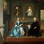 Arthur William Devis - Reverend Streynsham Master and his wife, Margaret of Croston, Lancashire