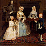 Arthur William Devis - Mr and Mrs Richard Bull and family