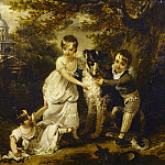 Arthur William Devis - Family portrait of Sir John Trevelyans children