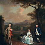 Arthur William Devis - Sir George Lyttelton, Bart., with Lt. Col. Richard Lyttelton and Rachel